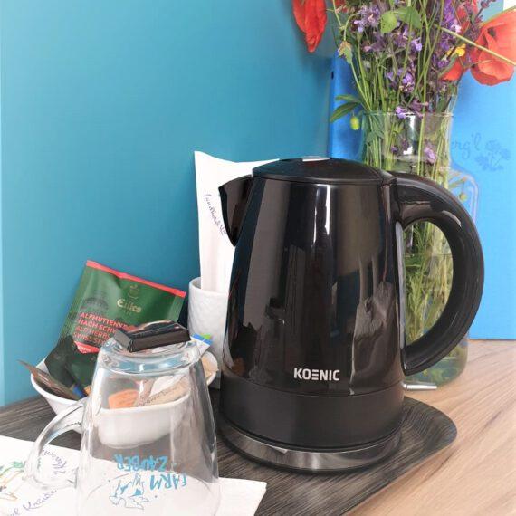 Das Coffee and Tea Package ganz bequem bei Anreise für Ihren Aufenthalt bei uns dazu buchen...