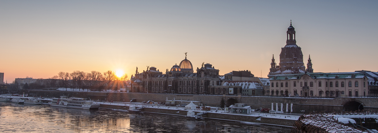 Dresden an der Elbe - malerisch auch im Winter