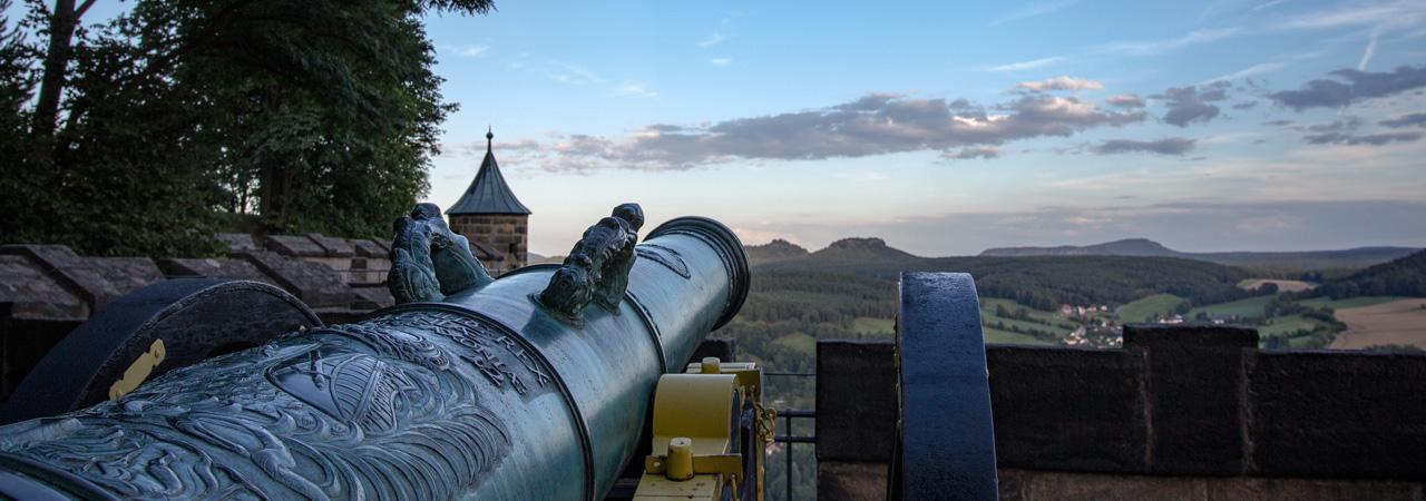 Blick auf die Sächsische Schweiz von der Festung Königstein aus