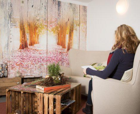Perfekte Orte zur Entspannung - die gemütlichen Leseecken des Landhotels